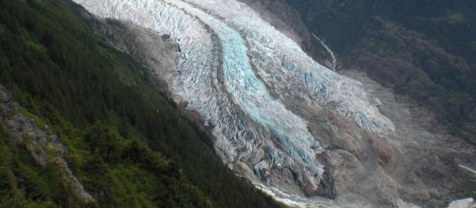 Herbert Glacier from the Earnest Greuning-Goat Mountain saddle.